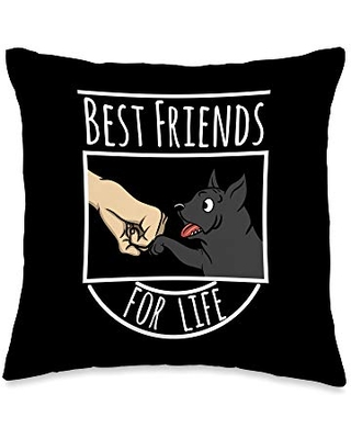 Funny Cane Corso Gifts Best Friends Cane Corso Dog Throw Pillow, 16x16, Multicolor