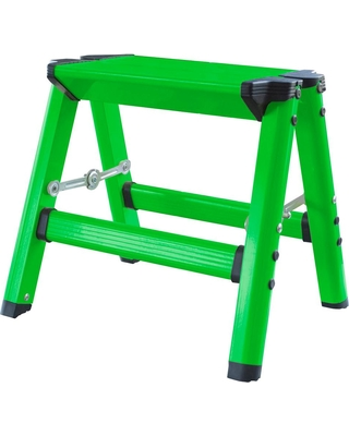 Sensational Amerihome Amerihome Aluminum Single Step Folding Stool With 325 Lbs Load Capacity In Neon Green From Home Depot Bhg Com Shop Ibusinesslaw Wood Chair Design Ideas Ibusinesslaworg