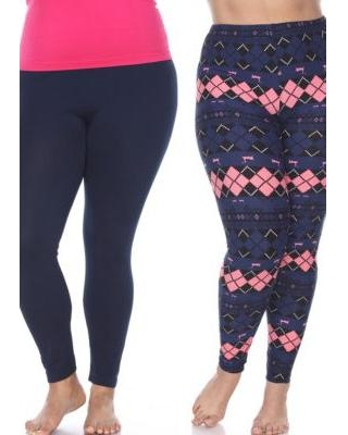 b1cb0f29bad Amazing Deal on White Mark Navy Navy  Pink Pack of 2 or 3 Plus Size ...