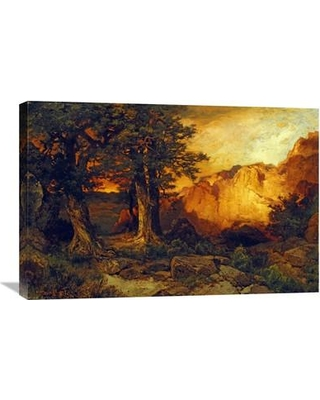 """Global Gallery 'The Grand Canyon' by Thomas Moran Painting Print on Wrapped Canvas GCS-268317-22-142 / GCS-268317-30-142 Size: 19.98"""" H x 30"""" W x 1.5"""" D"""