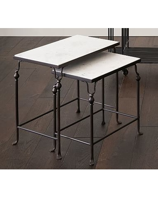 Monty Marble Nesting End Tables, Bronze - Set of 2