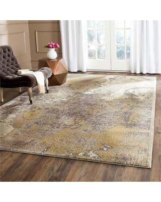 "Trent Austin Design Cabinwood Ivory/Gray Area Rug TADN3674 Rug Size: Rectangle 5'1"" x 7'7"""