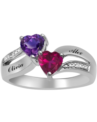 Birthstone Couple's Ring