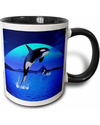 "East Urban Home A Orc a Whale Coffee Mug W000755525 Color: Black Size: 4.65"" H x 4.9"" W x 3.33"" D"