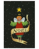Shop Deals On The Holiday Aisle Angel Noel Acrylic Painting Print On Wrapped Canvas Canvas Fabric In Red Black Size 19 H X 12 W X 2 D Wayfair