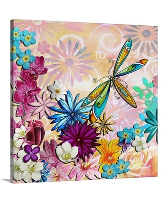 'Whimsical Floral Collage' by Megan Duncanson Painting Print