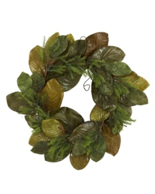 Nearly Natural Magnolia Leaf Artificial Wreath