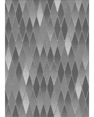 East Urban Home Arcadian Geometric Wool Gray Area Rug W002202377 Rug Size: Rectangle 2' x 3'