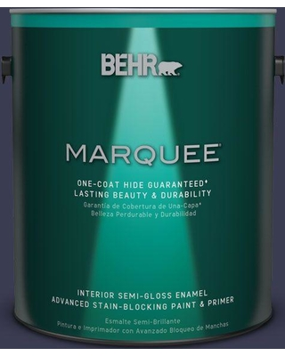 BEHR MARQUEE 1 gal. Home Decorators Collection #HDC-WR16-03 Blueberry Tart Semi-Gloss Enamel Interior Paint & Primer