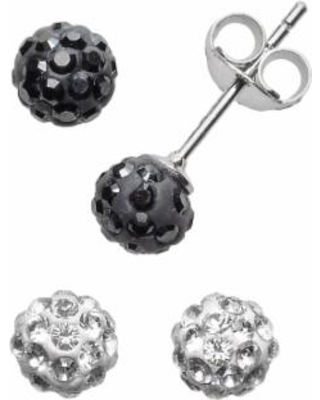 c4887b65f Sterling Silver Crystal Ball and Stud Earring Set - Made with Swarovski  Crystals, Women's
