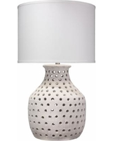 Jamie Young Porous Matte White Organic Ceramic Table Lamp