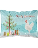 The Holiday Aisle Homewood German Langshan Chicken Christmas Indoor/Outdoor Throw Pillow BF148761