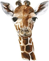 Baby Giraffe Watercolor Nursery Wall Art Print Available In Various Sizes