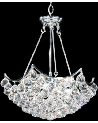 "James R. Moder Cascade 19""W Silver Crystal Dining Chandelier"