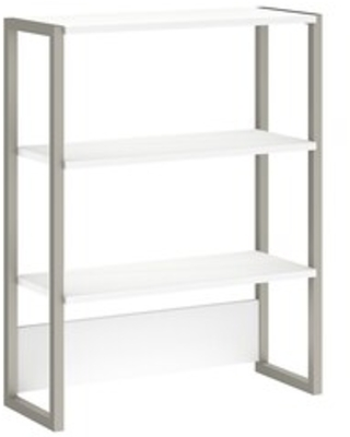 Office by kathy ireland Method Bookcase Hutch, White (KI70206) | Quill