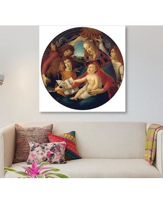 East Urban Home 'Madonna of the Magnificat' Graphic Art Print on Canvas EAUB4364 Size: 26'' H x 26'' W x 0.75'' D