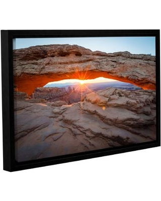 """Loon Peak 'Mesa Arch Sunburst 3' by Cody York Framed Photographic Print on Wrapped Canvas LNPK2634 Size: 16"""" H x 24"""" W x 2"""" D"""
