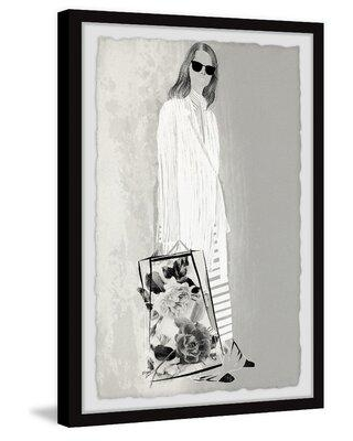 """House of Hampton® Striped Maxi Skirt by House of Hampton® - Picture Frame Printon Paper, Paper in Brown/Black, Size 36"""" H x 24"""" W x 1.5"""" D   Wayfair"""