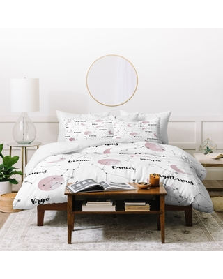 Deny Designs Moon and Constellations 3 Piece Duvet Cover Set (Queen)