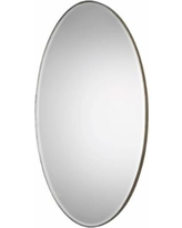 "Petra Antique Silver 24 1/4"" x 48 1/4"" Oval Wall Mirror"