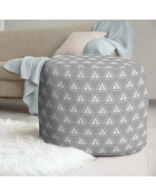 East Urban Home Two Color Minimalist Trees Pouf W001706233 Upholstery Color: Gray/White