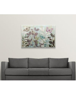 """Great Big Canvas 'Fluttering III' Graphic Art Print 1052910_1 Size: 32"""" H x 48"""" W x 1.5"""" D Format: Canvas"""