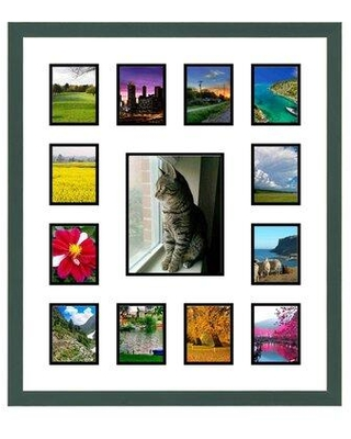 Frames By Mail 13 Opening Collage Picture Frame multimat-58815-107 / multimat-58815-108 Color: Green