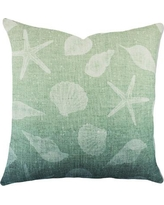 TheWatsonShop Seashell Cotton Throw Pillow DFVOMBBLUESHELLS