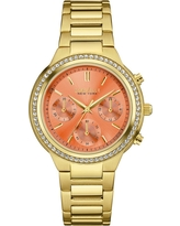 Women's Caravelle New York Swarovski Crystal Gold Tone Watch 44L218 - Bright gold