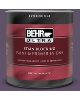 Shop Deals For Behr Ultra 5 Gal Ppu17 04 Darkest Grape Flat Exterior Paint And Primer In One