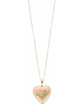 """10k Gold ""I Love You"" Locket Necklace, Women's, Size: 18"", Yellow"""