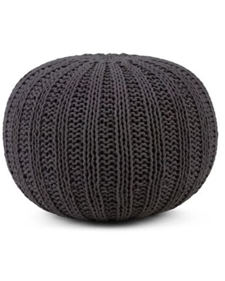 Simpli Home™ Shelby Cotton Round Pouf in Slate