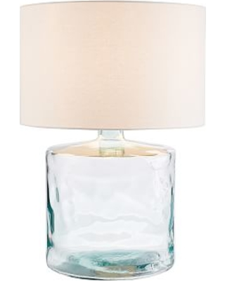Mallorca Table Lamp Large Base With X Gallery Straight Sided Cotton Linen Drum
