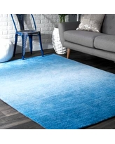 """Rugs USA Blue Terrace Ombre rug - Contemporary Runner 2' 6"""" x 8'"""