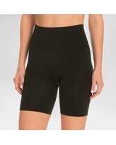 Assets by Spanx Women's Remarkable Results Mid-thigh Shaper - Black 1X
