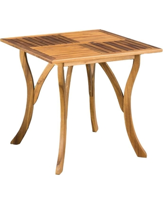 Noble House Camdyn Teak Square Wood Outdoor Dining Table