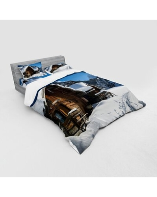 Winter Duvet Cover Set East Urban Home Size: Queen Duvet Cover + 3 Additional Pieces
