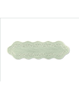 Heritage Lace Sheer Divine Table Runner, 14 by 54-Inch, Ecru