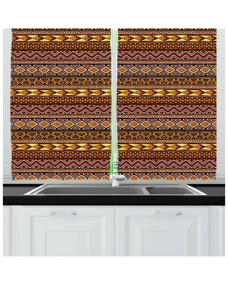 African Kitchen Curtain East Urban Home