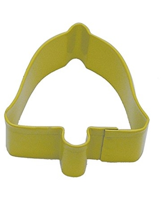 """R&M Bell 2.5"""" Cookie Cutter Yellow with Brightly Colored, Durable, Baked-on Polyresin Finish"""