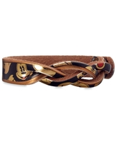 Mickey Mouse Braid Leather Bracelet Personalizable Official shopDisney