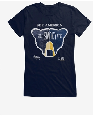 See America Great Smoky Mountains Girls T-Shirt