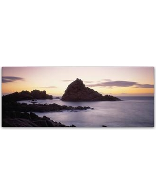 """Trademark Fine Art """"Sugarloaf Rock WA"""" by David Evans Photographic Print on Wrapped Canvas DE0078-C Size: 6"""" H x 19"""" W x 2"""" D"""