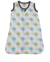 Bacati - Muslin Printed Sleeping Bag (Wearable Blankets) (Small, Moroccan Tiles Aqua/Lime/Grey)