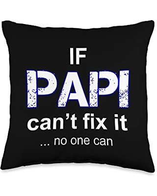 Spanish Papi Apparel Papi Mexican Father Day Apparel Latino Padre Spanish Dad Throw Pillow, 16x16, Multicolor