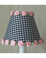 "Silly Bear Gardens of Gingham 11"" Fabric Empire Lamp Shade LS-084 Shade Color: Black"