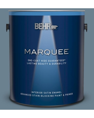 BEHR MARQUEE 1 gal. #ppf-37 Rocky Creek Satin Enamel Interior Paint and Primer in One