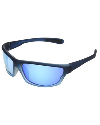 Foster Grant Men's Navy Mirrored Wrap Sunglasses JJ01