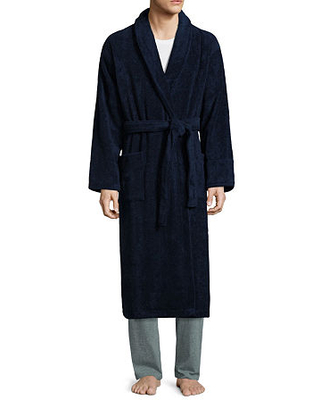 Stafford French Terry Robe, One Size Fits Most , Blue