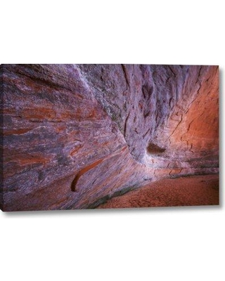 "Millwood Pines 'UT Glen Canyon Sandstone of Fifty mile Canyon' Photographic Print on Wrapped Canvas BI152169 Size: 11"" H x 16"" W x 1.5"" D"
